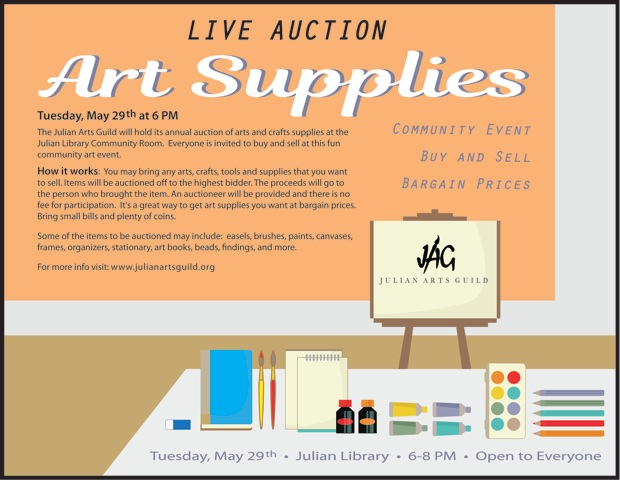 Art Supply Auction Poster 2