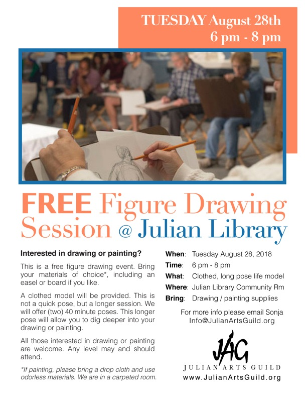 Figure Drawing Session Flyer 8-18